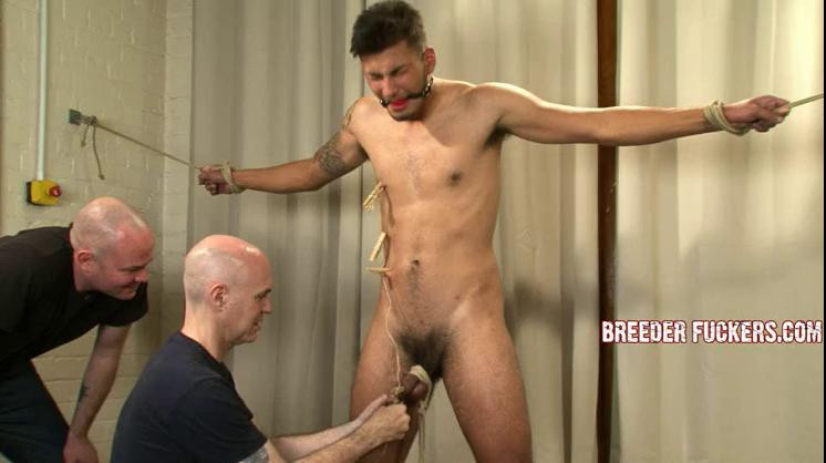 Gay BDSM Liam - Tied, gagged, wedgie, arse caned, flogged