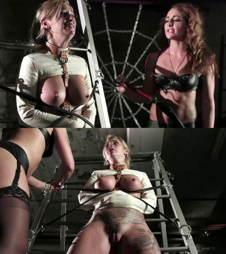BDSM Latex Tight bondage, torment and torture for sexy young slavegirl