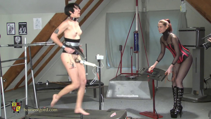 BDSM Forced Workout Orgasm Training for House of Gord