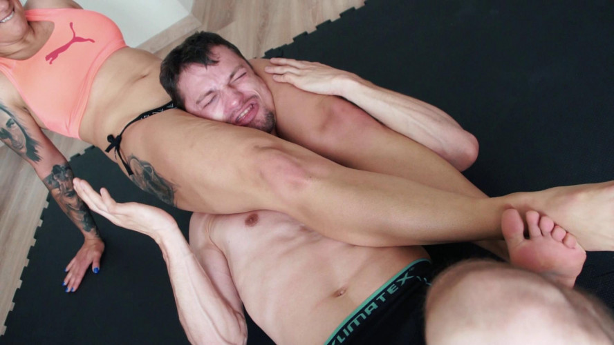Femdom and Strapon Mixed Wrestling Zone - Milana Vs Frank - Blazing Submissionist!