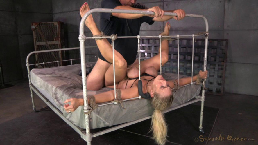 BDSM Big titted blonde Angel Allwood takes on BBC