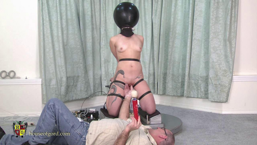 BDSM House of Gord - Kay Serah - Balloon Hooded, Bound and Fucked
