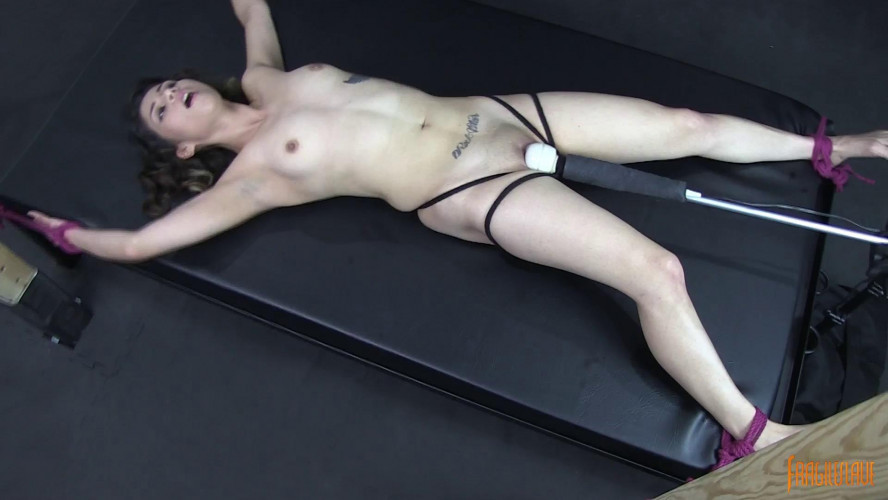 BDSM Spread and Vibed to Orgasm