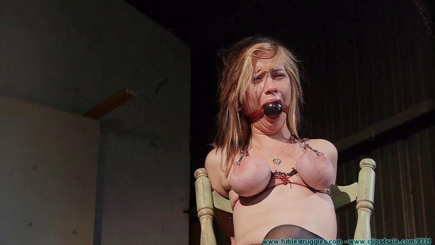 BDSM Lexi Kneels and Begs for Tit Torture, and Gets It vol. 2