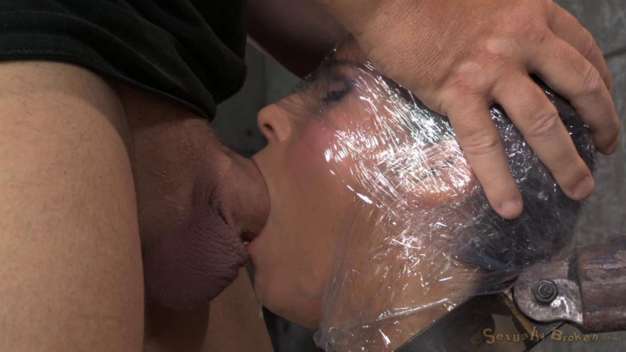 BDSM Syren De Mer Wrapped, Mummified AndShackled, Services Two Hard Cocks!
