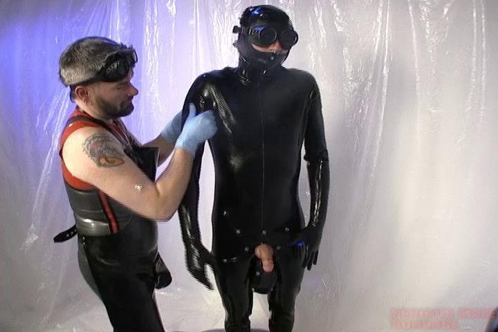 Gay BDSM How To Prep A Rubber Gimp