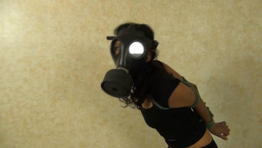BDSM Gas Mask 001 Drea Morgan