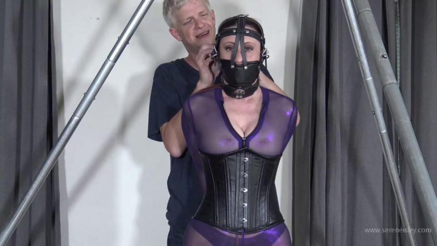 BDSM Serene Isley - Purple Catsuit Strappado Predicament