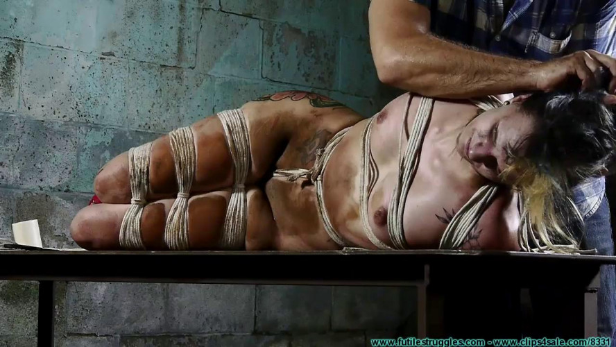 BDSM Rosie Hogtied - Part 3