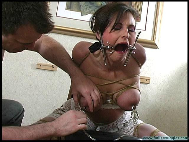 BDSM Calls for Bondage - Lola Lynn Strips and is ChairTied