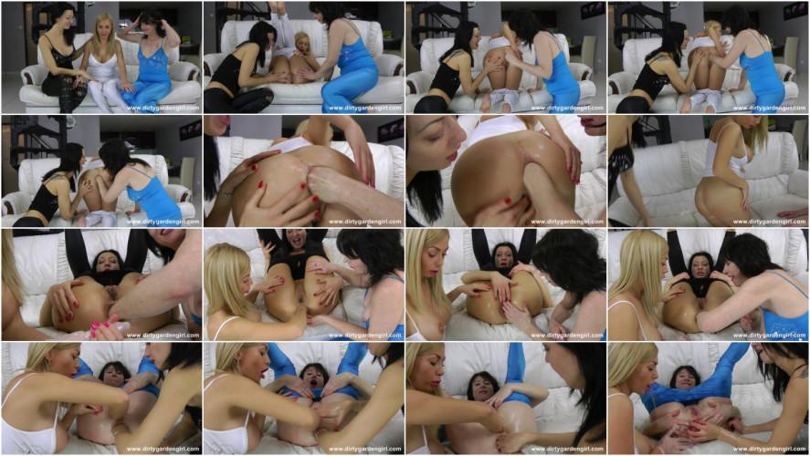 Fisting and Dildo Isabella, Donna & Hotkinkyjo .