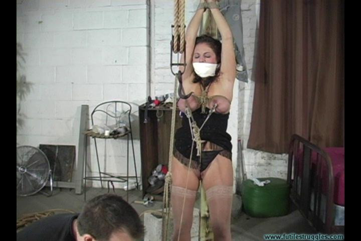 BDSM Lola Lynn Cheating Wife is Punished with Tight Crotchrope and Clamps vol. 2