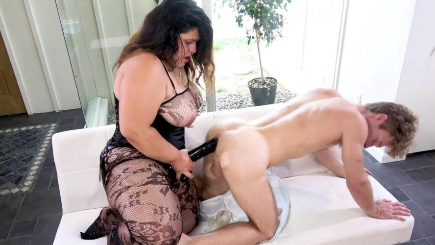 Femdom and Strapon Karla Lane Fucks Michael Vegas