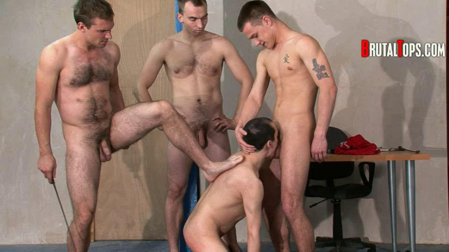 Gay BDSM Session 66 - Masters Guy, Billy & Jack