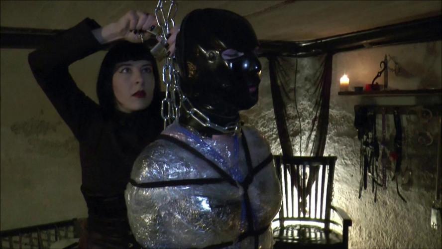 BDSM Latex Mummy bondage