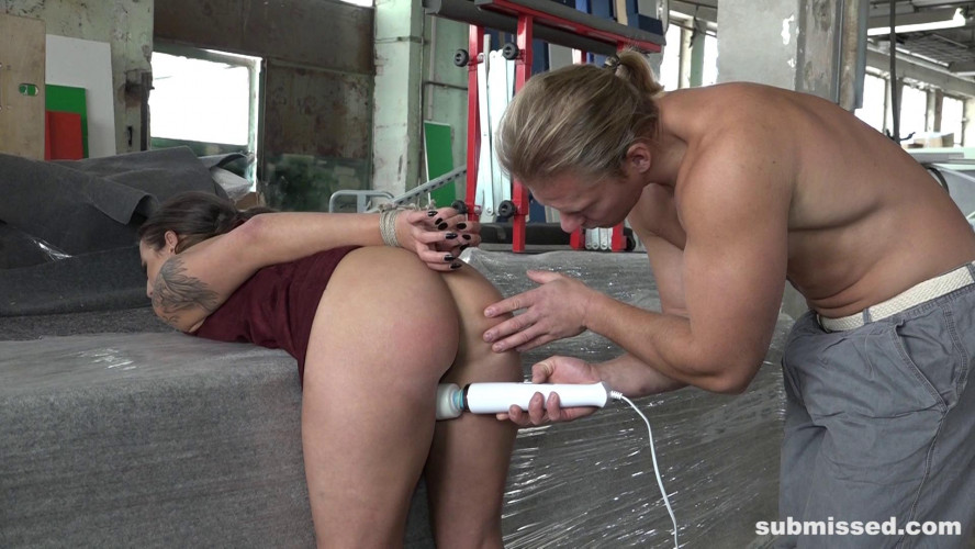 BDSM Ballgagger Laura Gets Pounded Hard From Behind