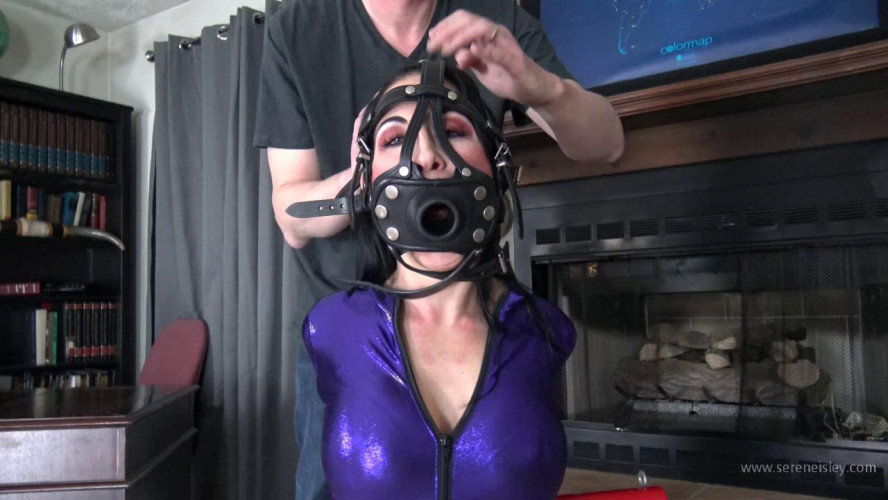 BDSM Latex Raven Eve - Banner T Predicament and Nipple Clamps