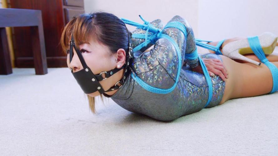 BDSM Mina Sparkly Bodysuit Hogtie