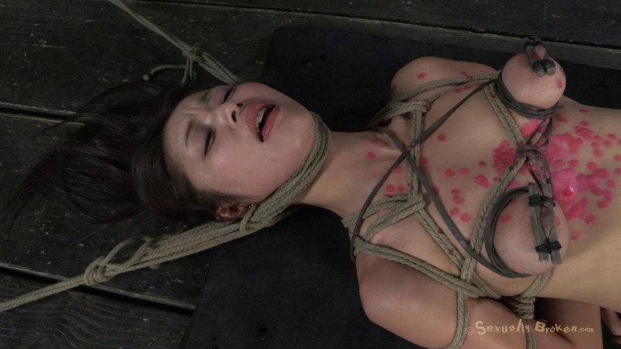 BDSM Cute Japanese girl roughly deep throated and Fucked, with wax dripping...