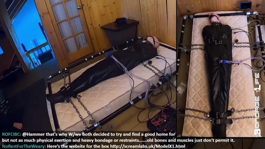 BDSM Latex Sleepsack suffering