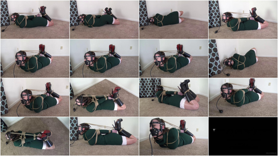 BDSM Serene Isley - Green Dress and a Tight Hogtie