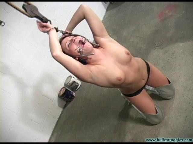 BDSM Brandy HogCuffed Nude - Part 1