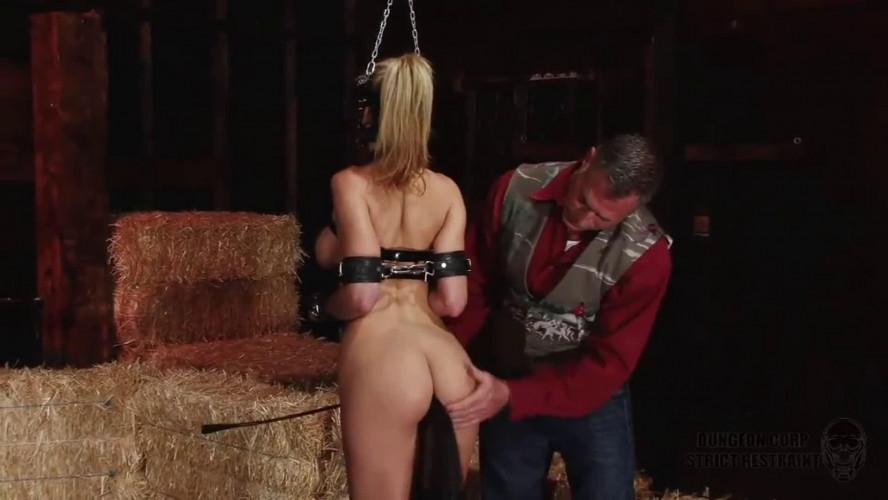 BDSM Super bondage, domination and spanking for sexy naked blonde