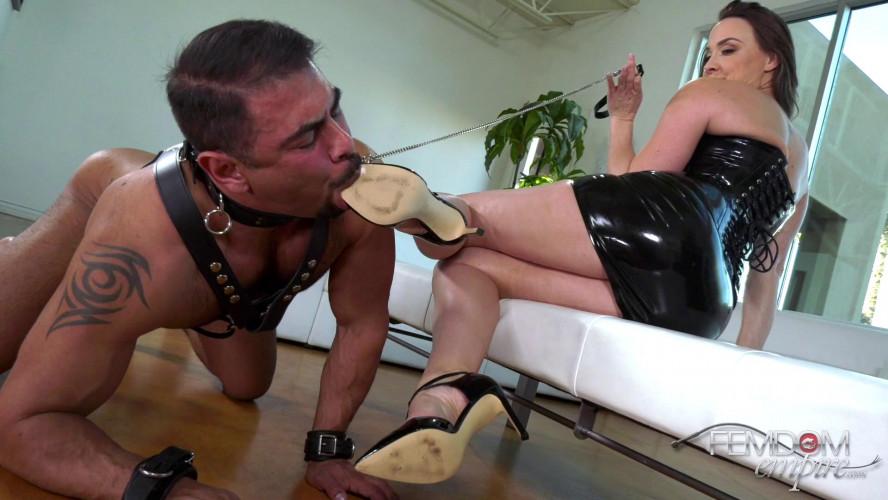 Femdom and Strapon Controlled By Feet - Chanel Preston