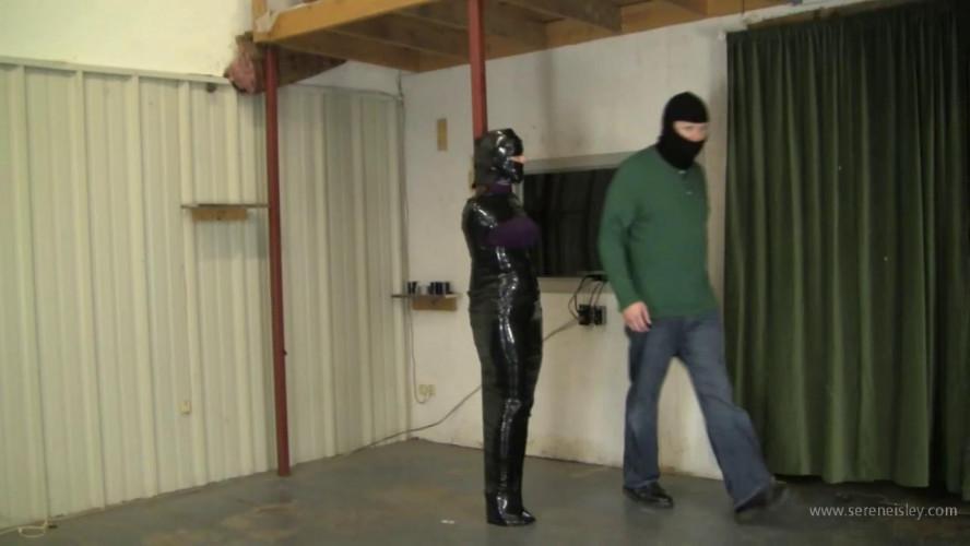BDSM Madalynn Raye - Tightly Black Wrapped To A Pole