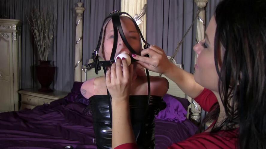 BDSM Latex Super bondage, domination and mummification for young model