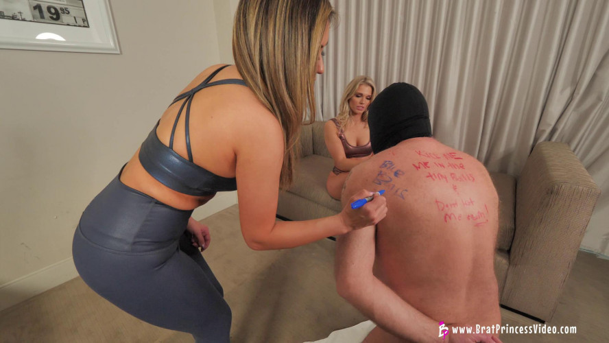 Femdom and Strapon Princess Amber and Lexi Chase Humiliate An Old Loser (Complete)