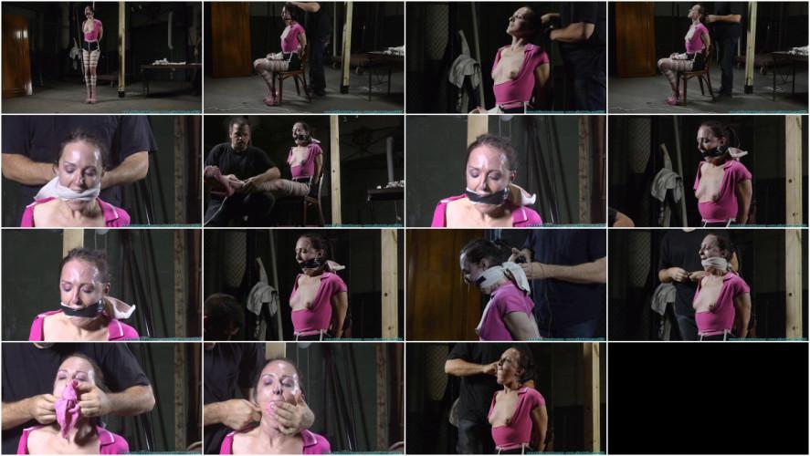 BDSM Lil miss natalie hogtied part 2