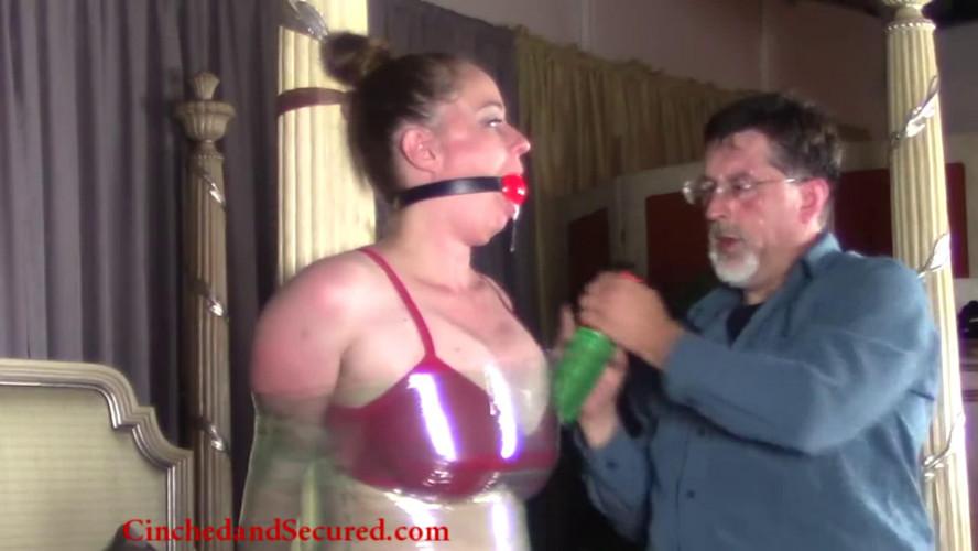 BDSM Latex Tight bondage, domination and mummification for very hot girl