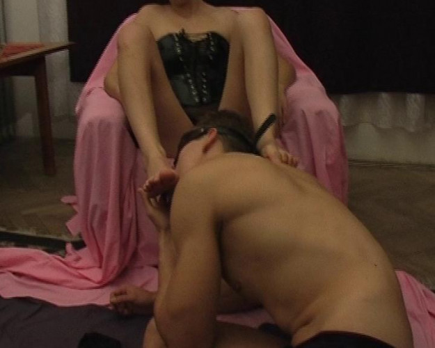 Femdom and Strapon Femdom action for the brunette chick
