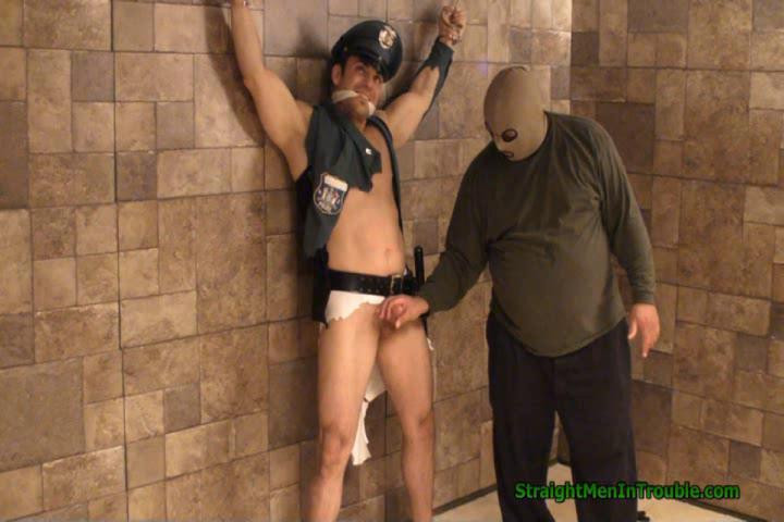 Gay BDSM Officer Franco Ripped, Stripped & Milked  - Part 3