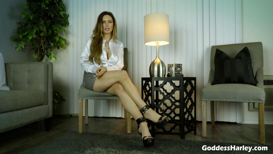 Femdom and Strapon Office Girls Paycheck Slave