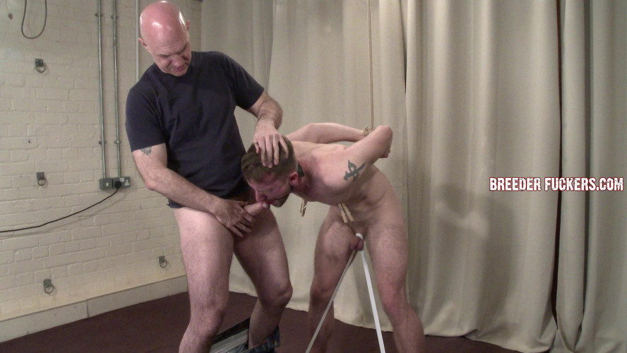 Gay BDSM Danny - Bound, nipples pegged, drool used as lube