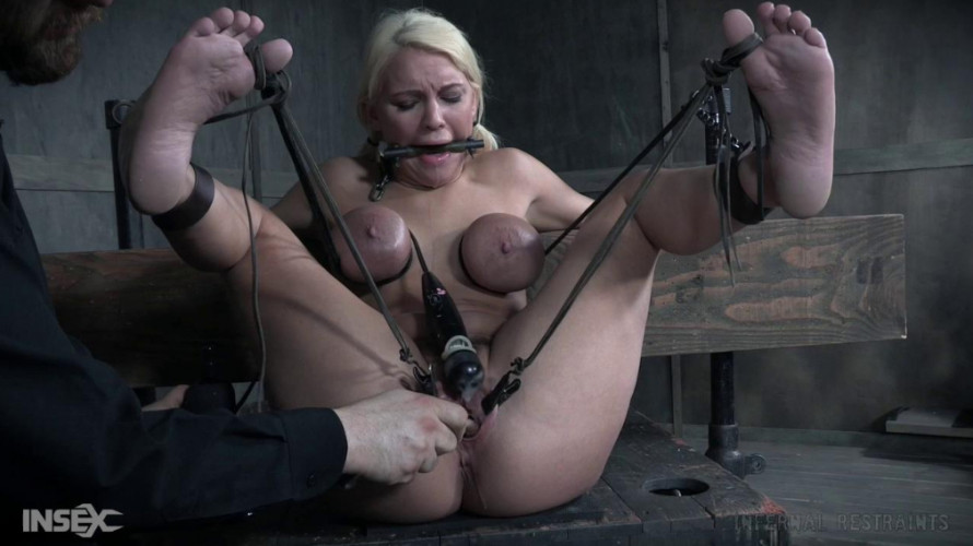 BDSM Metal Restraints For Big Tits Slave