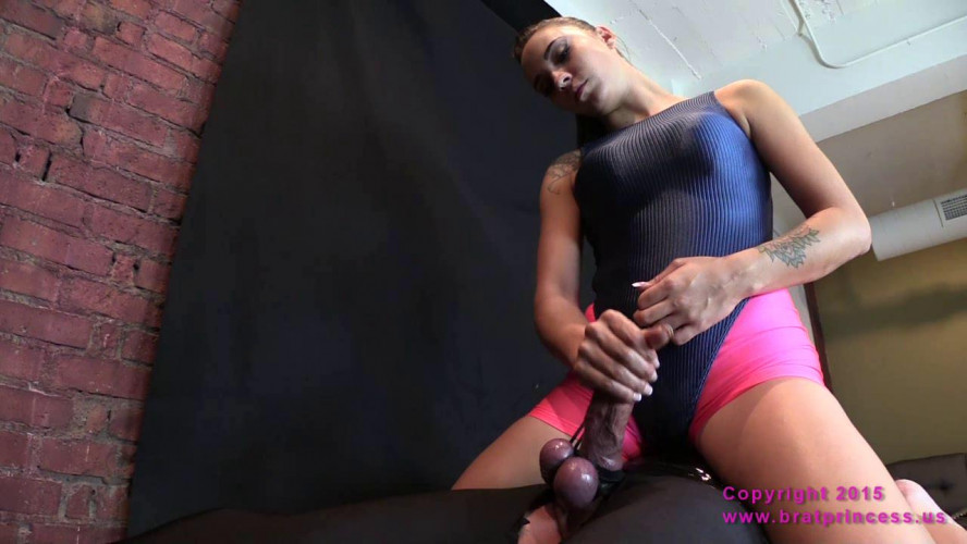Femdom and Strapon Helpless Male with Bound Balls Forcibly Milked and Ruined
