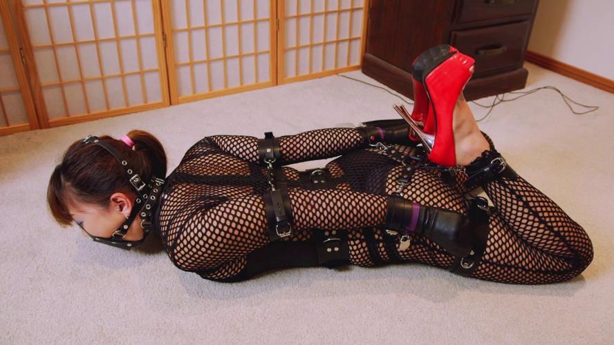 BDSM Mina is locked In Her New Cuffs