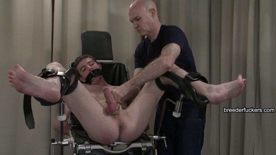 Gay BDSM David - Gagged, cock manipulated till erect, dick bound
