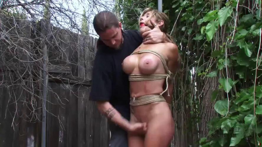BDSM Tight bondage, strappado and spanking for sexy naked model