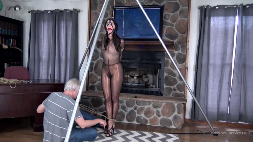 BDSM Arielle Lane: Tightly Bound in a Bronze Catsuit