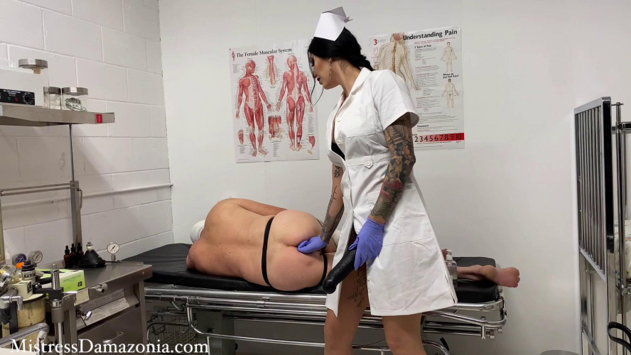 Femdom and Strapon Anal invasion at the hospital - Mistress Damazonia