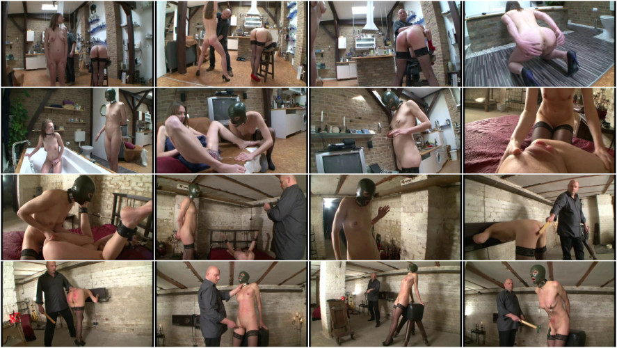 BDSM Rough domination with piss games & pussy pumping