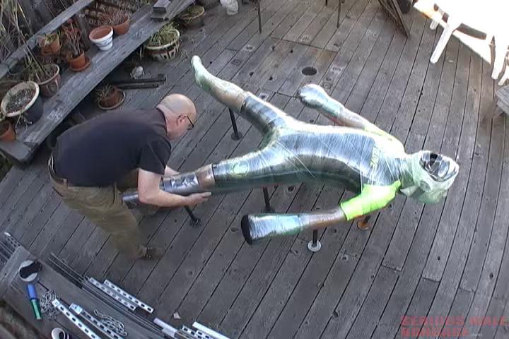 Gay BDSM Boxing Glove Mummification