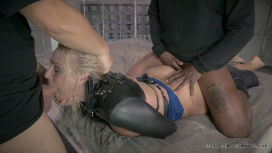 BDSM RTB - Angel Allwood bound and fucked with epic deepthroat!