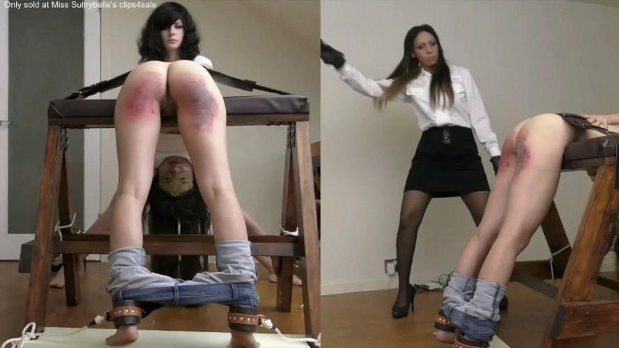 BDSM Miss Sultrybelle - Brutal paddle punishment