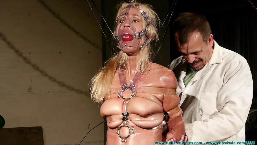 BDSM HD Bdsm Sex Videos Clear Strap Hogtie for Amanda Part 2