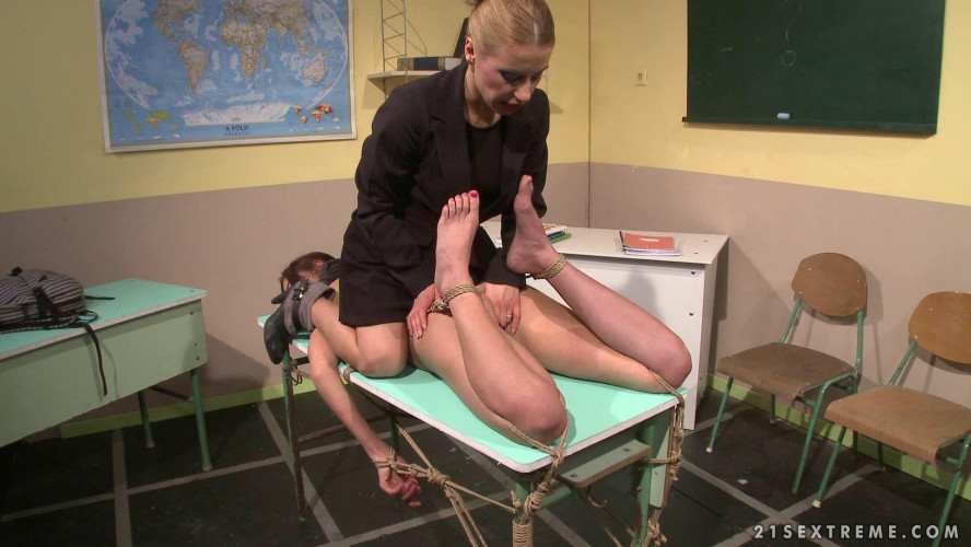 BDSM Nikky Thorne and Betty Stylle Classroom Pleasures